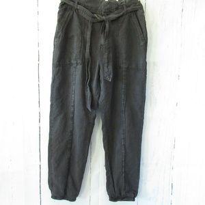 Anthropologie Jogger Pants Paper Bag Waist Hi Rise
